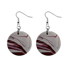 Wine Mini Button Earrings