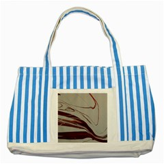 Wine Striped Blue Tote Bag by WILLBIRDWELL