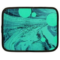Neon Bubbles 2 Netbook Case (large) by WILLBIRDWELL