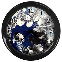 Black And Blue Wall Clock (black)