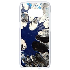 Black And Blue Samsung Galaxy S8 White Seamless Case by WILLBIRDWELL