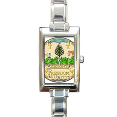 Great Seal Of Vermont Rectangle Italian Charm Watch by abbeyz71