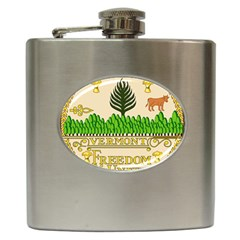 Great Seal Of Vermont Hip Flask (6 Oz) by abbeyz71
