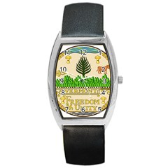Great Seal Of Vermont Barrel Style Metal Watch by abbeyz71