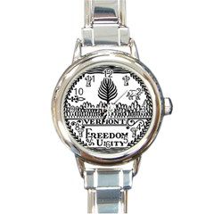 Great Seal Of Vermont Round Italian Charm Watch by abbeyz71