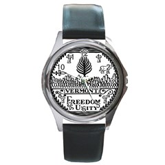 Great Seal Of Vermont Round Metal Watch by abbeyz71