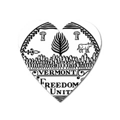 Great Seal Of Vermont Heart Magnet by abbeyz71