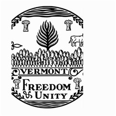 Great Seal Of Vermont Large Garden Flag (two Sides) by abbeyz71
