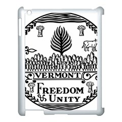 Great Seal Of Vermont Apple Ipad 3/4 Case (white) by abbeyz71