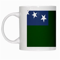 Flag Of Vermont Republic, 1777 1791 White Mugs by abbeyz71