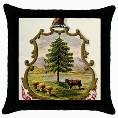 Coat Of Arms Of Vermont Throw Pillow Case (black) by abbeyz71