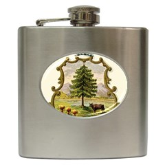 Coat Of Arms Of Vermont Hip Flask (6 Oz) by abbeyz71