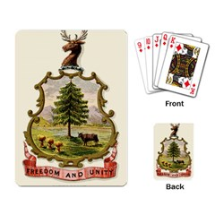 Coat Of Arms Of Vermont Playing Cards Single Design by abbeyz71