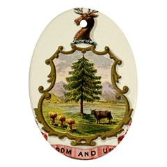 Coat Of Arms Of Vermont Oval Ornament (two Sides) by abbeyz71
