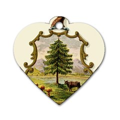 Coat Of Arms Of Vermont Dog Tag Heart (two Sides) by abbeyz71