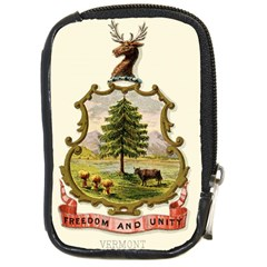 Coat Of Arms Of Vermont Compact Camera Leather Case by abbeyz71