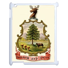 Coat Of Arms Of Vermont Apple Ipad 2 Case (white) by abbeyz71