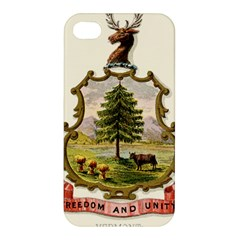 Coat Of Arms Of Vermont Apple Iphone 4/4s Premium Hardshell Case