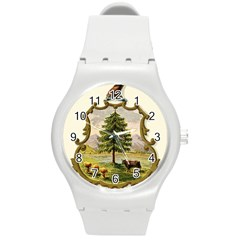 Coat Of Arms Of Vermont Round Plastic Sport Watch (m) by abbeyz71