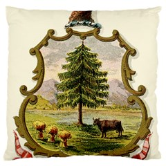 Coat Of Arms Of Vermont Large Cushion Case (two Sides) by abbeyz71