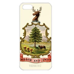 Coat Of Arms Of Vermont Apple Iphone 5 Seamless Case (white) by abbeyz71