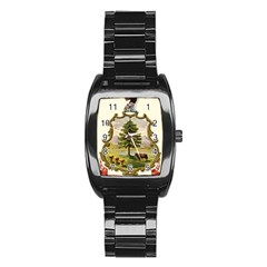 Coat Of Arms Of Vermont Stainless Steel Barrel Watch by abbeyz71
