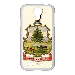 Coat Of Arms Of Vermont Samsung Galaxy S4 I9500/ I9505 Case (white) by abbeyz71