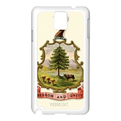 Coat Of Arms Of Vermont Samsung Galaxy Note 3 N9005 Case (white) by abbeyz71