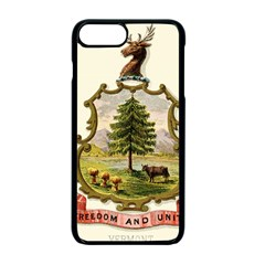 Coat Of Arms Of Vermont Apple Iphone 7 Plus Seamless Case (black) by abbeyz71