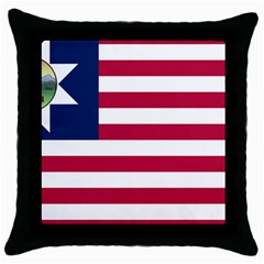 Flag Of Vermont, 1837 1923 Throw Pillow Case (black) by abbeyz71