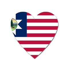 Flag Of Vermont, 1837-1923 Heart Magnet by abbeyz71