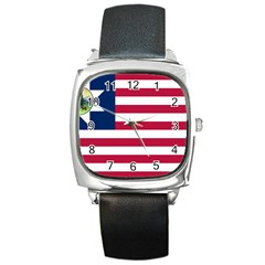 Flag Of Vermont, 1837 1923 Square Metal Watch by abbeyz71