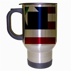 Flag Of Vermont, 1837 1923 Travel Mug (silver Gray) by abbeyz71