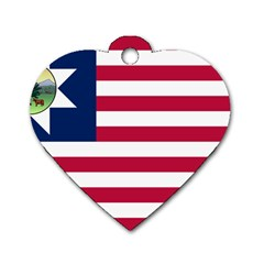 Flag Of Vermont, 1837 1923 Dog Tag Heart (two Sides) by abbeyz71