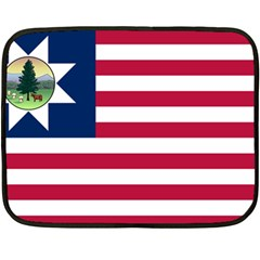 Flag Of Vermont, 1837 1923 Double Sided Fleece Blanket (mini)  by abbeyz71