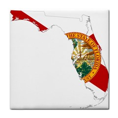 Flag Map Of Florida  Tile Coasters by abbeyz71