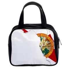 Flag Map Of Florida  Classic Handbag (two Sides) by abbeyz71