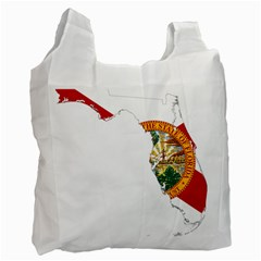Flag Map Of Florida  Recycle Bag (two Side) by abbeyz71