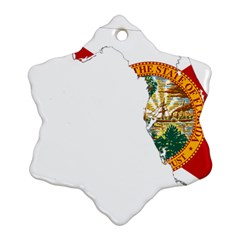 Flag Map Of Florida  Snowflake Ornament (two Sides) by abbeyz71