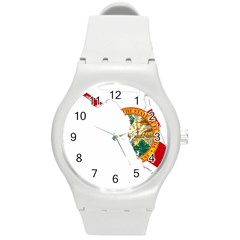 Flag Map Of Florida  Round Plastic Sport Watch (m) by abbeyz71