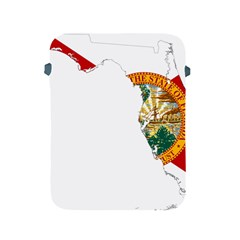 Flag Map Of Florida  Apple Ipad 2/3/4 Protective Soft Cases by abbeyz71
