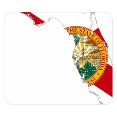 Flag Map Of Florida  Double Sided Flano Blanket (small)  by abbeyz71