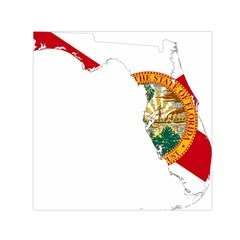 Flag Map Of Florida  Small Satin Scarf (square) by abbeyz71