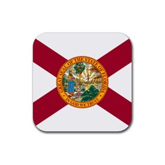 Flag Of Florida Rubber Square Coaster (4 Pack)  by abbeyz71