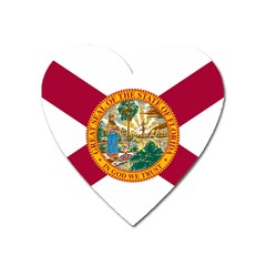 Flag Of Florida Heart Magnet by abbeyz71