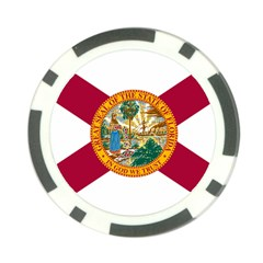 Flag Of Florida Poker Chip Card Guard (10 Pack) by abbeyz71