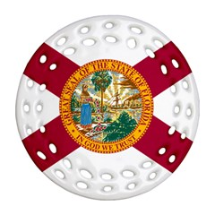 Flag Of Florida Round Filigree Ornament (two Sides) by abbeyz71
