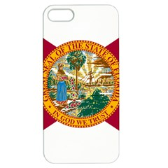 Flag Of Florida Apple Iphone 5 Hardshell Case With Stand by abbeyz71