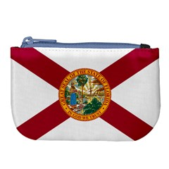 Flag Of Florida Large Coin Purse by abbeyz71