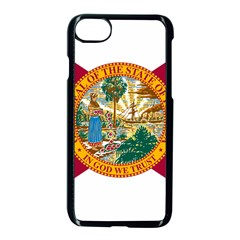 Flag Of Florida Apple Iphone 7 Seamless Case (black) by abbeyz71